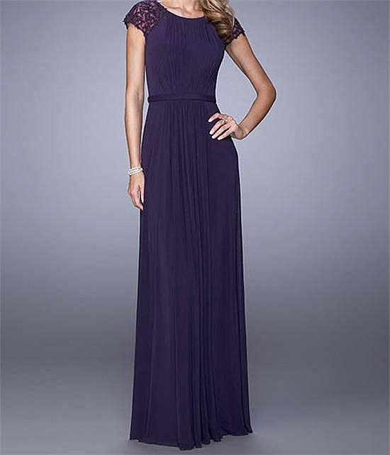 ddbb27f3bf4 Purple Chiffon Long Mother of The Bride Dresses
