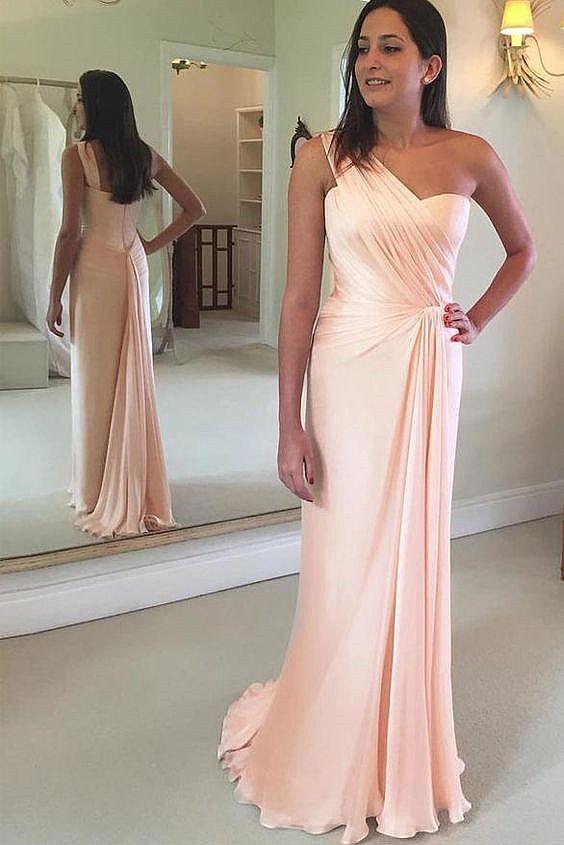 Stunning Blush Pink Bridesmaid Dress Wedding Party Dress