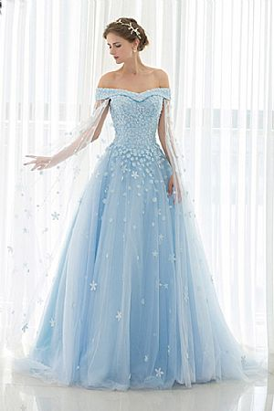 Wedding Blue dress with sleeves pictures catalog photo