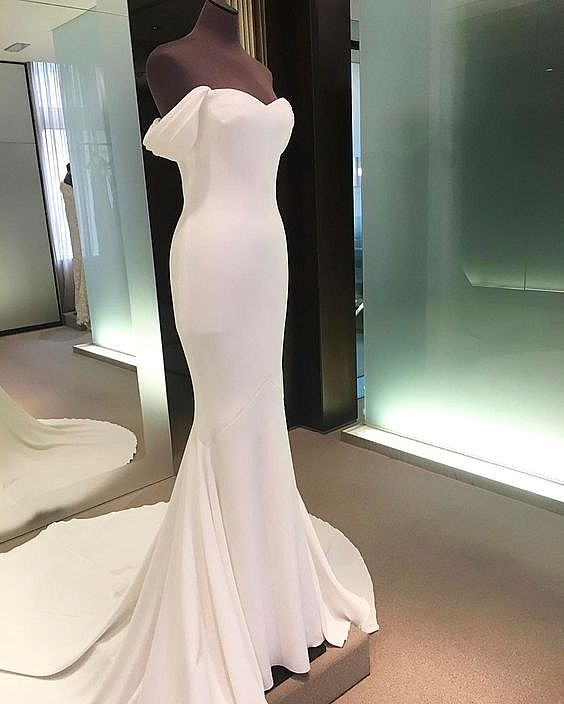 47276256017 Sexy White Formal Evening Dress Bridal Gowns
