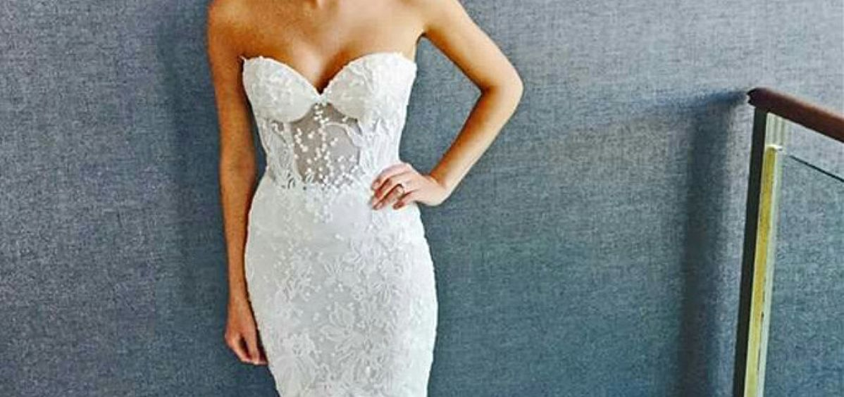 Custom Made Sweetheart Lace Appliqued Wedding Dress