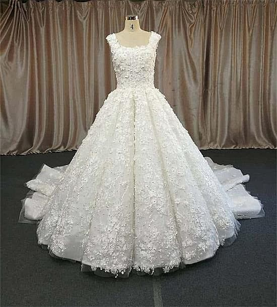 Fabulous Pleated Ball Gown Wedding Dress 2018