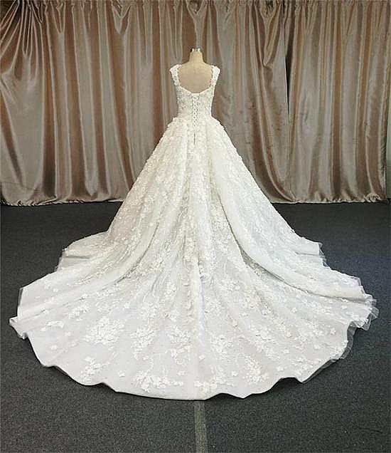 Fabulous Pleated Ball Gown Wedding Dress 2018