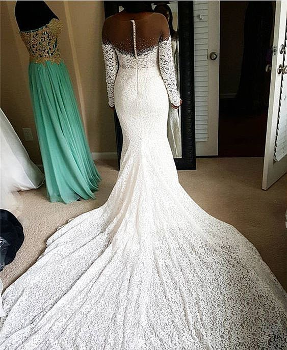 African Lace Wedding Dress
