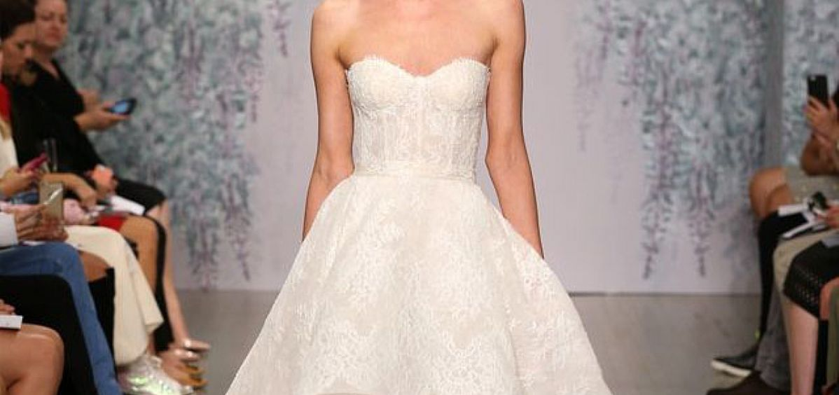 Designer Sweetheart Hi Low Beach Wedding Dresses