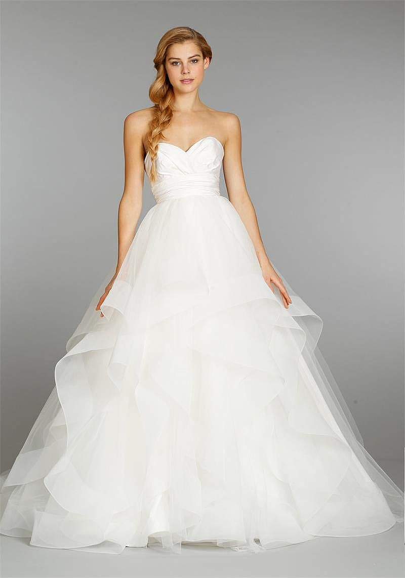 Pretty Sweetheart Organza Wedding Dress with Tiered Skirt